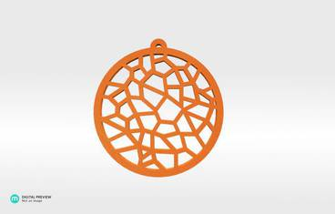 Voronoi Pendant 01 - Plastic shiny & sturdy orange
