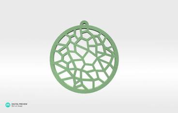 Voronoi Pendant 01 - Plastic glow-in-the-dark glow in the dark