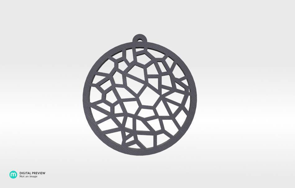 Organic plastic grey                                                Jewelry Pendants 3D printed