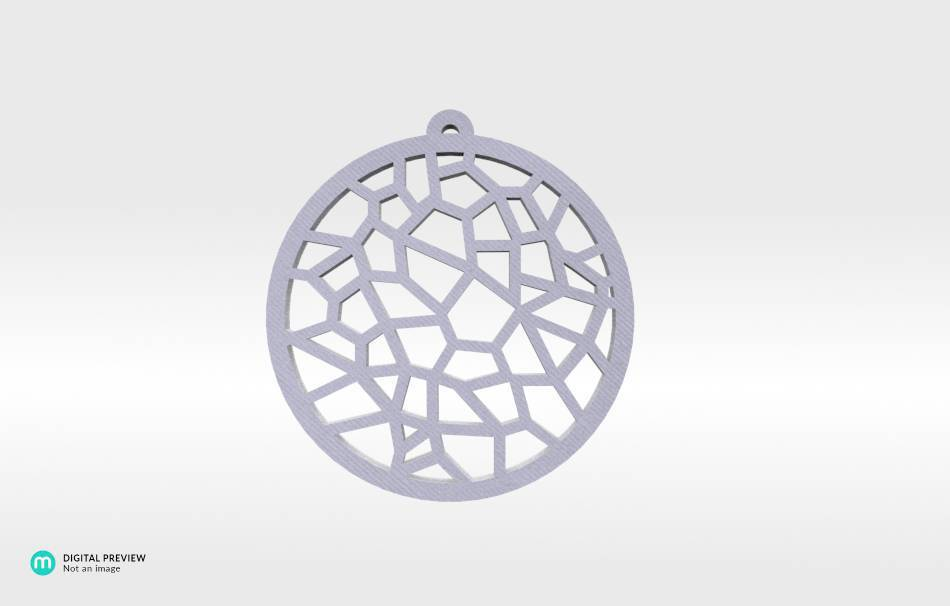 Organic plastic white                                                Jewelry Pendants 3D printed