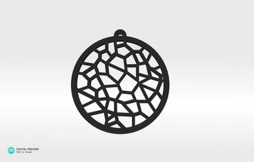 Voronoi Pendant 01 - Resin black