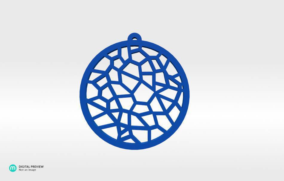 Resin blue                                                Jewelry Pendants 3D printed