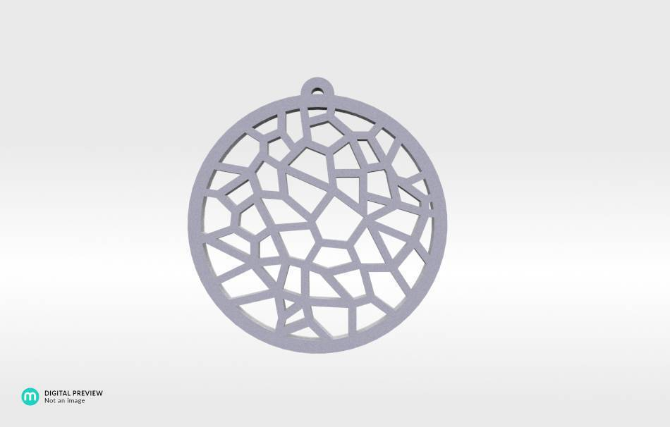 Resin white                                                Jewelry Pendants 3D printed