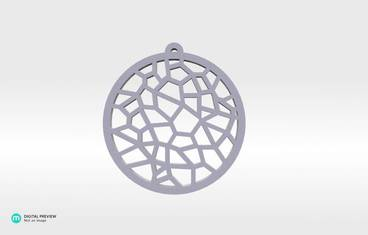Voronoi Pendant 01 - Resin white