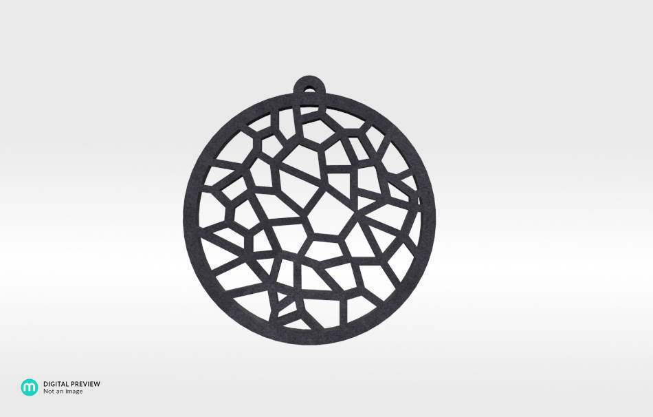 Plastic matte black                                                Jewelry Pendants 3D printed
