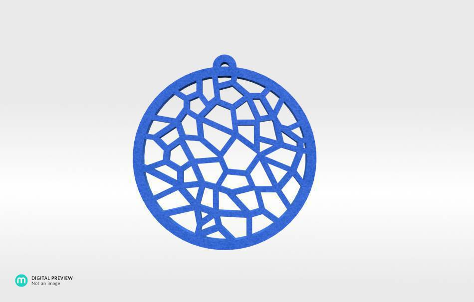 Plastic matte blue                                                Jewelry Pendants 3D printed