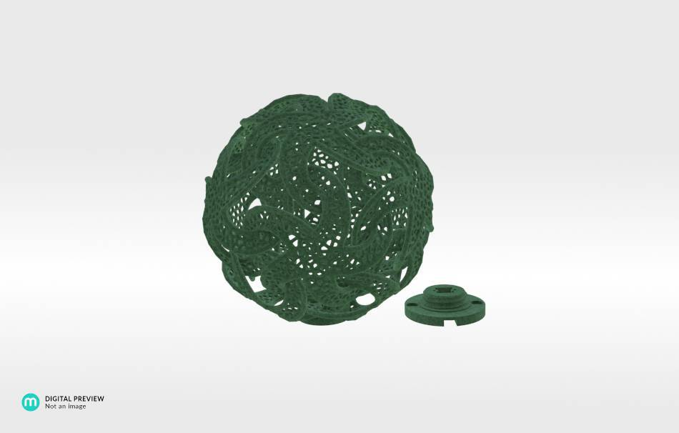 Plastic matte green                                                Gadgets Decoration Home Others Gadgets 3D printed