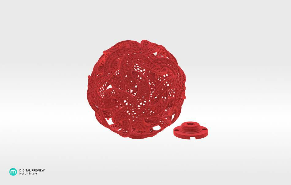 Plastic matte red                                                Gadgets Decoration Home Others Gadgets 3D printed