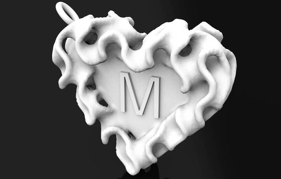 Plastic matte white                                                Jewelry Pendants 3D printed
