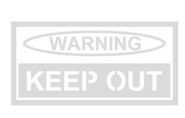 Warning sign - Acrylic glass 3mm colorless transparent