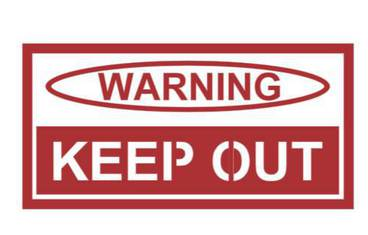 Warning sign - Acrylic glass 3mm red