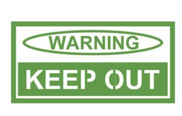 Warning sign - Acrylic glass 3mm green