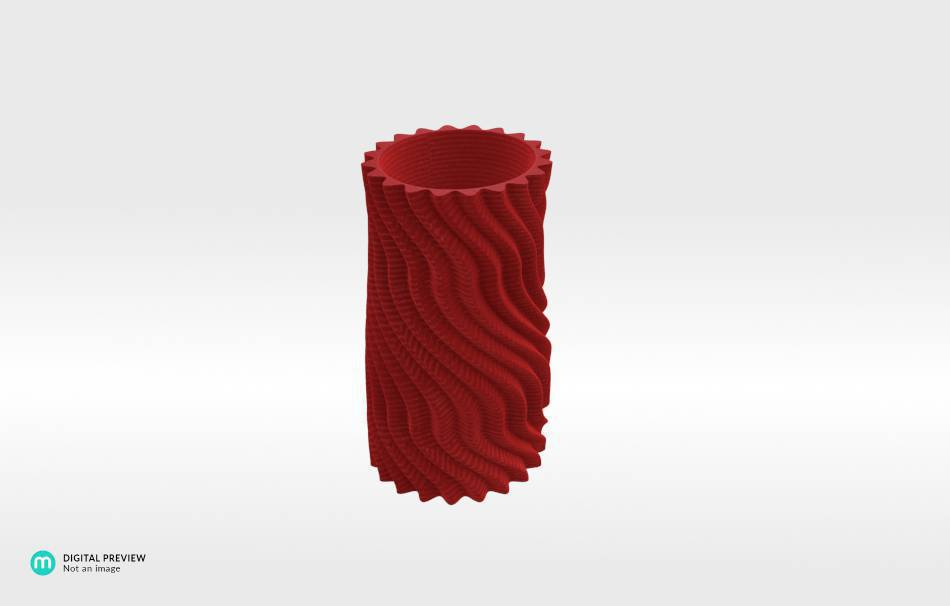 Plastic shiny & sturdy red                                                Decoration Home 3D printed