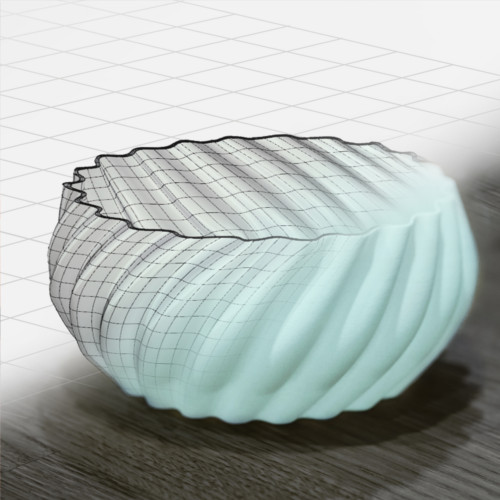 Product ideas and sketches are turned into real objects using 3d design and printing technology